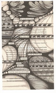 Book page, Micron pen, and graphite shading.