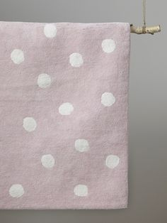 Teppich, handgewebte Tupfen - Rosa/weiß-tupfen - 3