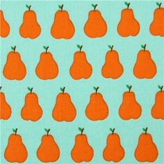 mint green pear fruit cotton fabric from Japan 2