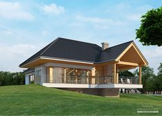 House with attic in modern style with usable area House with a large garage. Minimum size of a plot needed for building a house is m. House Plans Mansion, Cottage Style House Plans, My House Plans, Ceramic Roof Tiles, House In The Woods, Modern House Design, Home Projects, Building A House, Patio