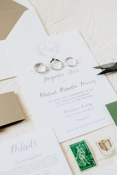 Classic Wedding Invitations for a North Georgia Vineyard Wedding at Monteluce Winery