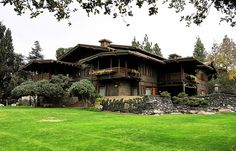 The Gamble House in Pasadena, California is an example of American Arts and Crafts architecture, designed by Charles and Henry Greene and constructed 1908–09 as a home for David B. Gamble of the Procter & Gamble company.