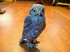 Up for sale Estate fresh is anAntique Signed Bergmann Cold Cast Painted Bronze Owl in Very good overall estate condition. Signed on the base as shown in photo Realistic painting. Fish Sculpture, Bronze Sculpture, Alberto Giacometti, Wall Candle Holders, Bird Statues, Antique Signs, Realistic Paintings, Owl Art, Ship Art