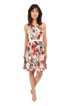 Floral Spring Dresses For Every Budget. Crossback Fit and Flare.