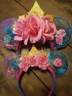 Mommy and Me matching Aurora make it pink make it blue minnie mouse clear ears https://www.etsy.com/listing/526790347/mommy-me-matching-aurora-ears