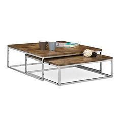 78% Rabatt auf: Relaxdays Couchtisch Holz FLAT 2er Set natur HBT