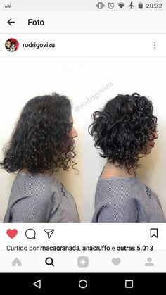 Add more shape to curly hair