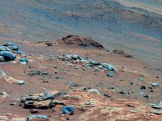 "NASA - Mars... Not exactly the red planet hunh! Lengthy detective work with data NASA's Mars Exploration Rover Spirit collected in late 2005 has confirmed that an outcrop called ""Comanche"" contains a mineral indicating that a past environment was wet and non-acidic, possibly favorable to life."