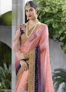Buy a wide range of designer saree. Order this thrilling satin embroidered and patch border work hot pink classic designer saree. Pink Satin, Saree Wedding, Hot Pink, Sari, Shades, Design, Fashion, Saree, Moda