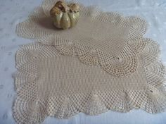 Cream/Beige Table Dollies Doily Home Decor  by EauPleineVintage, $20.00