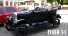 Ford 14 convertible. Black color