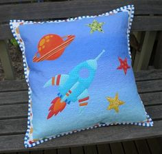 rocket ship pillow tutorial and applique design