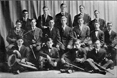 The San Jose High School Orchestra from 1909. First violins, Russel Pearce, George Barry, Eugene Harvey, Frank Argall and Creighton Putnam; second violins, Jean Minjoulet and Charles Bromley; piano, John McDonald; clarinets, Frank Campbell and Lloyd Kinnear; horn, Clarence Tubner; cornets, Allie Reiser, Sewall Brown and Lyman Lantz; trombone, Harry Cochran; bass horn, Stanley Sprung; drums Guy Entriken.