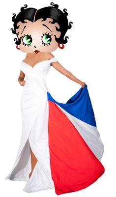 Betty Boop Viva la France