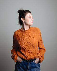 Tirsdagsfling 🧡 ⠀ ⠀ Kanskje Flettegenser i Inca blir ditt neste prosjekt? I så fall kan du finne oppskriften i heftet PT159.⠀ ⠀ ⠀… Pullover, Knitting, Sweaters, Instagram, Design, Fashion, Threading, Moda, Tricot
