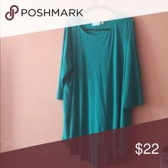 🆕 Hi-Low Tunic Teal green high low tunic. 3/4 sleeves. Perfect with jeans, leggings, or skirt. Please ask if you have questions. Attitudes Tops Tunics