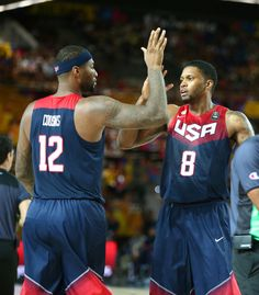 DeMarcus Cousins and Rudy Gay played well off the bench as Team USA beat Dominican Republic 106-71. #USAB #USA