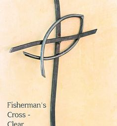 """The once secret symbol of Christianity, represented by a simple outline of a fish, hooked around the cross, the Fisherman's Cross is designed as a daily reminder to go forth boldly, telling others of the kingdom of God as Jesus told Simon (Peter); """"Go and proclaim the kingdom of God"""" (Luke 9:60). """"Don't be afraid, from now on you will catch men!!"""" (Luke 5:10). – Each Fisherman's Cross comes with in a Gift Box with a Story Card"""