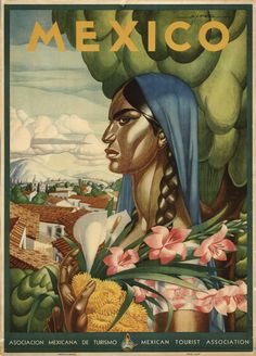 Vintage Mexican Travel Poster http://digital.lapl.org/ItemDetails.aspx?id=6366=3
