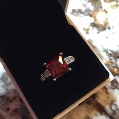 Sterling Silver Ring -size 6 NWOT sterling silver and cubic zirconia ring, size 6. No trades please. Thank you and happy shopping!!! Jewelry Rings