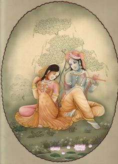 Beautiful painting of krishna and radha ji Radha Krishna Images, Radha Krishna Love, Krishna Pictures, Pichwai Paintings, Indian Art Paintings, Mughal Paintings, Shiva, Arte Krishna, Indiana