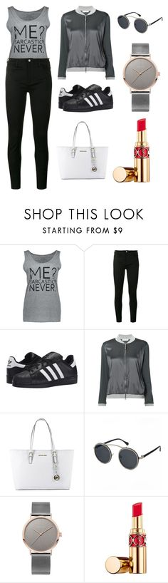 """""""Sans titre #5971"""" by merveille67120 ❤ liked on Polyvore featuring Gucci, adidas Originals, FABIANA FILIPPI, MICHAEL Michael Kors and Yves Saint Laurent"""