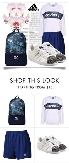 """""""XO Adidas. 💙"""" by julianamourning ❤ liked on Polyvore featuring adidas Originals and adidas"""