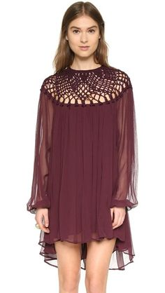 Free People Macrame Mini Dress