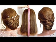 5 Hairstyles for short hair.Beautiful hairstyles step by step Goddess Hairstyles, Bun Hairstyles, Frozen Pictures, Updos, Hair Beauty, Make Up, Beautiful Hairstyles, Youtube, Hair Styles