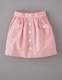 Mini Boden 'Spotty' Chambray Skirt (Little Girls & Big Girls) Skirts For Kids, Girl Dress Patterns, Sewing Patterns, Kids Frocks, Diy Dress, Baby Outfits, Little Girl Dresses, Baby Sewing, Fashion Kids