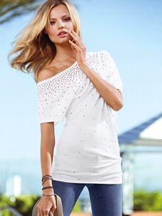 Dream Tees Jeweled Tunic #VictoriasSecret http://www.victoriassecret.com/clothing/tees/jeweled-tunic-dream-tees?ProductID=95436=OLS?cm_mmc=pinterest-_-product-_-x-_-x
