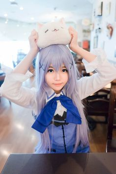Character : Kafu Chino Coser : (China) WorldCosplay ID : @ cherry Neko ____ Kawaii Cosplay, Cosplay Anime, Cute Cosplay, Amazing Cosplay, Cosplay Outfits, Best Cosplay, Cosplay Girls, Kawaii Girl, Kawaii Anime