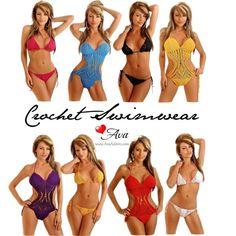 """""""Crochet Swimwear"""" by avaadorn on Polyvore"""