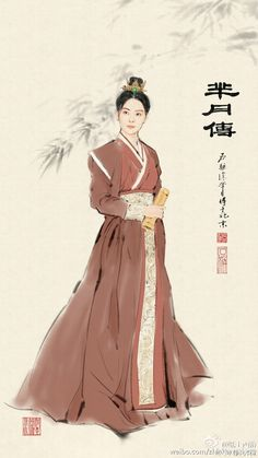 The Legend of Mi Yue 《芈月传》Chibis + Illustrations Chinese Drawings, Easy Drawings, Korean Art, Asian Art, Chinese Painting, Chinese Art, Drawings With Meaning, Chinese Traditional Costume, Traditional Paintings