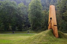 this photo is of a giant clothespin sculpture created by Mehmet Ali Uysal, a professor of art at Middle East Technical University. Reminiscent of Claes Oldenburg, the sculpture was created for the Festival of the Five Seasons in Chaudfontaine Park outside of Liège, Belgium