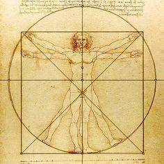 Leonardo da Vinci's 'Vitruvian Man' - Fibonacci!