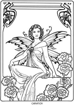 441 Best Adult Colouring Fairies Angels Images Dover