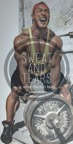 Sweat and tears  The best thing about Universal athletes, they have fun, and when it comes to the weights the put it all out. Antoine is a great example, awesome motivation.