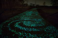 Solar-Powered Glowing Bicycle Path in Netherlands Inspired by Van Gogh's Starry Night!!!