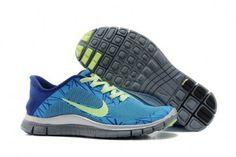 Nike Free 4.0 V3 Womens Shoes Blue Yellow
