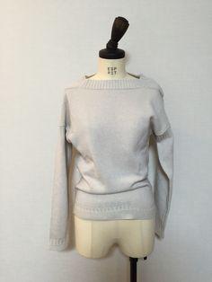 BURBERRY PRORSUM Guernsey Detail Cashmere Sweater