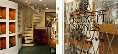 Zapatos de Crockett & Jones. Fundada en 1879, en Northampton. 25 Royal Exchange. Londres