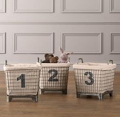 The Yellow Cape Cod: baskets from restoration hardware