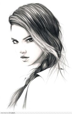Girl Portrait #hair #hairstyle #braid #hair / Ragazza, ritratto #capelli #acconciatura #treccia - Illust. by Tim-lee on deviantART