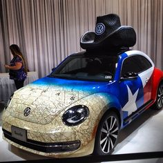 """The Texas """"bug"""". State Fair Of Texas Auto Show. (And look at that great map)"""