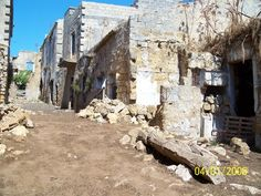 Santa Margherita di Belice, Sicily - The remains after the earthquake of 1968.