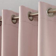 Sun Zero 1-Panel Gramercy Grommet Room Darkening Window Curtain | Kohls Pink Curtains, Cool Curtains, Room Darkening Curtains, Grommet Curtains, Blackout Curtains, Window Curtains, Curtains Living, Bedroom Curtains, Curtains Kohls