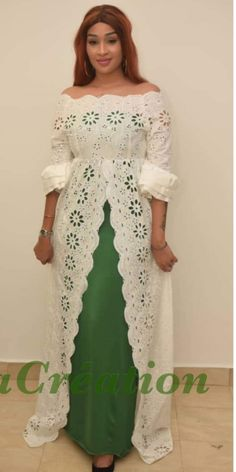 Mariama Robe Africaine Blanche, Mode Africaine Pagne, Robe Africaine  Moderne, Modele Tenue Africaine
