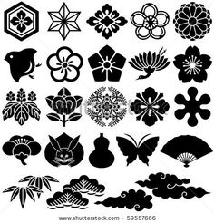 stock vector : japanese traditional icons