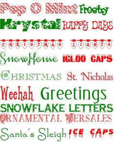 PinLaVie... Make your pins come true – A Collection of Free Christmas Fonts
